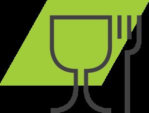go green valet parking restaurant icon