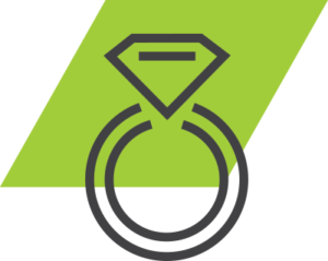 go green valet parking wedding icon