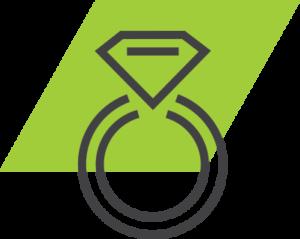 go green valet parking wedding icon