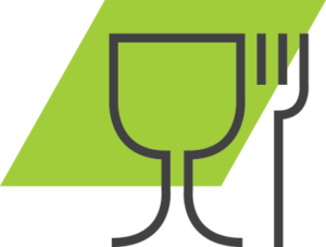 go green valet parking restaurant icon